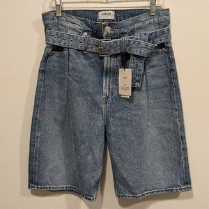 AGOLDE Reworked 90s High Rise Denim Shorts